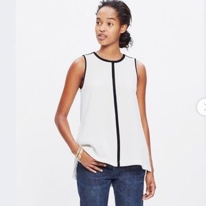 Madewell Crepe Canal Tank Top, Size Small